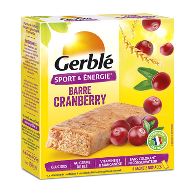 GERBLE - Gerblé - Paquets de 6 barres x12 camberry