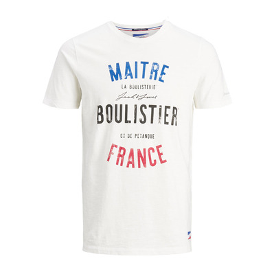 JACK & JONES - MALE JJGHARSALLI - Tee-shirt Homme cloud dancer