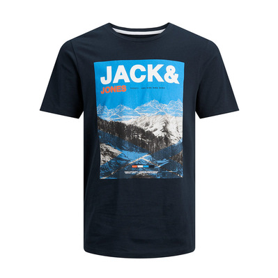 JACK & JONES - MALE JCOMOUNTAIN - Tee-shirt Homme sky captain