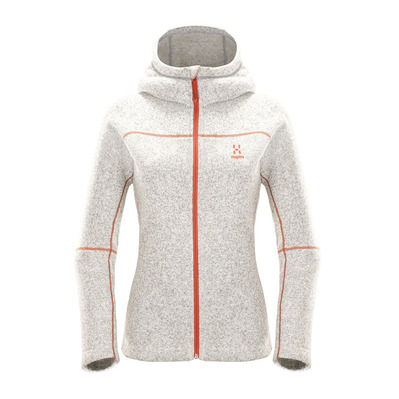 Haglöfs - SWOOK Q HOOD - Polaire Femme haze/dusty rust