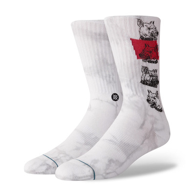 STANCE - BLUE RESPECT THE ELDERS - Calze Uomo white