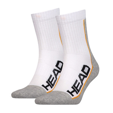 HEAD - PERFORMANCE SHORT CREW - Calze x3 white/grey