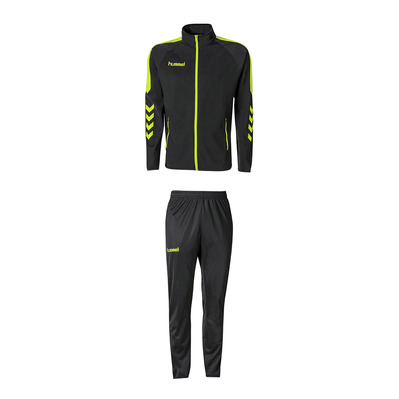 HUMMEL - CLUB CORE - Tracksuit - black/safety yellow