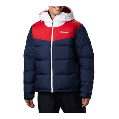 COLUMBIA - ICELINE RIDGE - Down Jacket - Men's - collegiate navy/mountain red/white