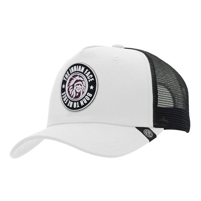 THE INDIAN FACE - BORN TO BE FREE - Cap - white/black