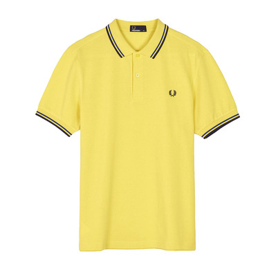 FRED PERRY - M3600E13 - Polo Homme chartreuse/royal