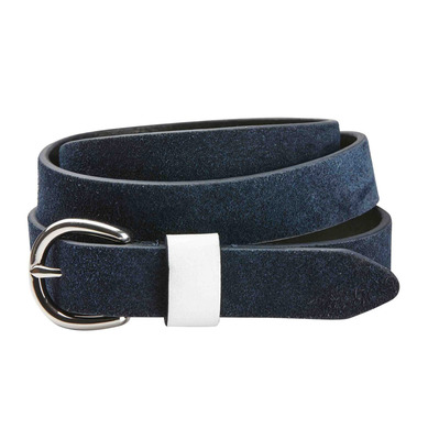 DUBLIN - SUEDE LEATHER - Cintura navy/white