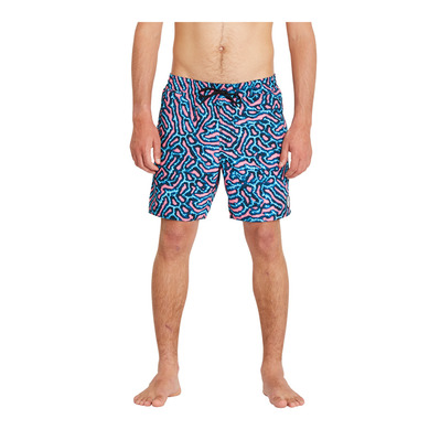 VOLCOM - CORAL MORPH TRUNK 17 - Swimming Shorts - Men's - pink