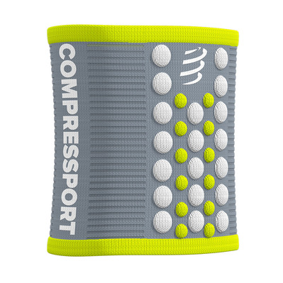 COMPRESSPORT - 3D.DOTS - Poignets-éponges grey/lime