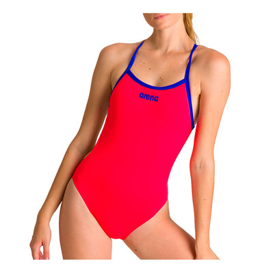 ARENA - SOLID LIGHT TECH HIGH - Maillot de bain Femme fluo red/neon blue