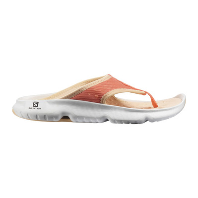 SALOMON - REELAX BREAK 5.0 - Recovery Sandals - Women's - persimmon/wht/almond cream