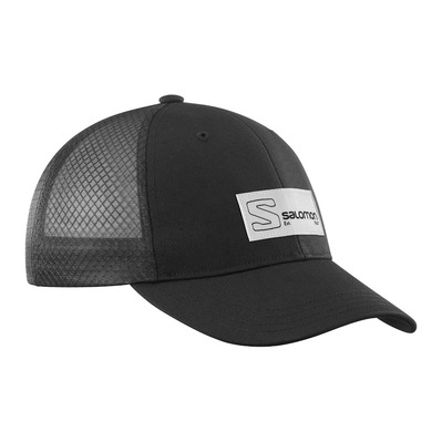 SALOMON - TRUCKER CURVED - Gorra black/black