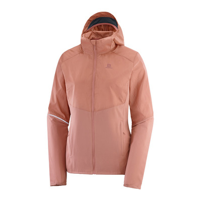 SALOMON - AGILE - Jacket - Women's - brick dust