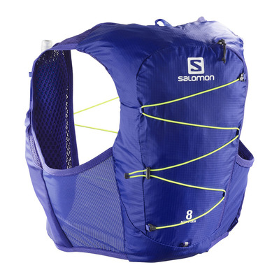 SALOMON - ACTIVE SKIN 8L - Sac d'hydratation clematis b/safety yel