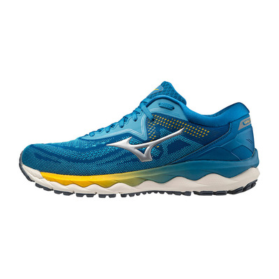 MIZUNO - WAVE SKY 4 - Running Shoes - Men's - scuba blue/silver/mykonos blue