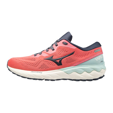 MIZUNO - WAVE SKYRISE 2 - Running Shoes - Women's - tea rose/ombre blue/bleached aqua