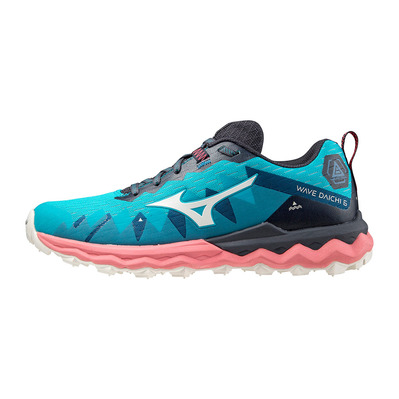 MIZUNO - WAVE DAICHI 6 - Trail Shoes - Women's - scuba blue/snow white/tea rose