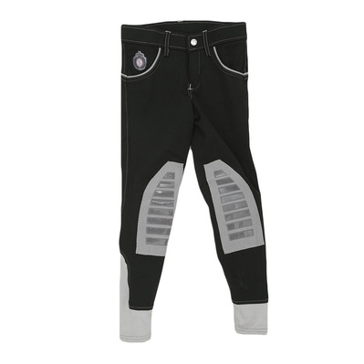 EASY RIDER - Euro-Star ABBY - Hose mit Silikonbesatz - Junior - black-lightgrey