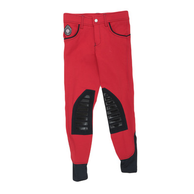 EASY RIDER - Euro-Star ABBY - Pantaloni con silicone Junior chilly red-navy
