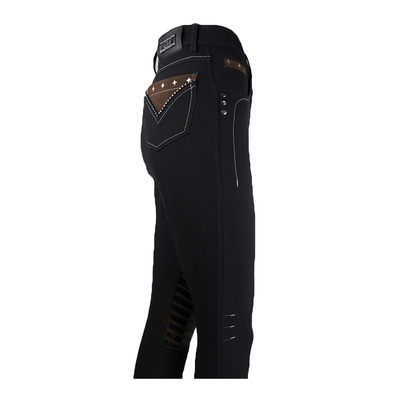 EASY RIDER - Euro-Star DELA - Hose mit Silikonbesatz - Junior - black