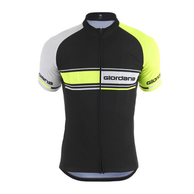 GIORDANA - VERO TRADE TEMPO - Funktionsshirt - Männer - black/yellow fluor/white