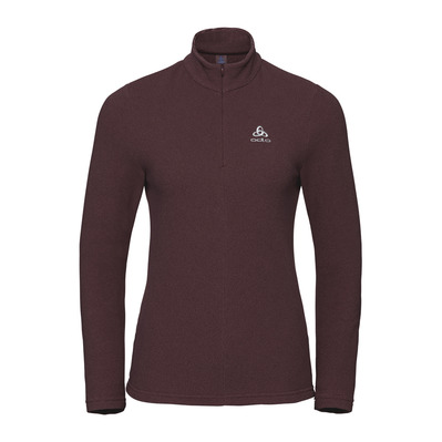 ODLO - 1/2 ZIP ROY - Polaire Femme roan rouge/decadent chocolate/stripes