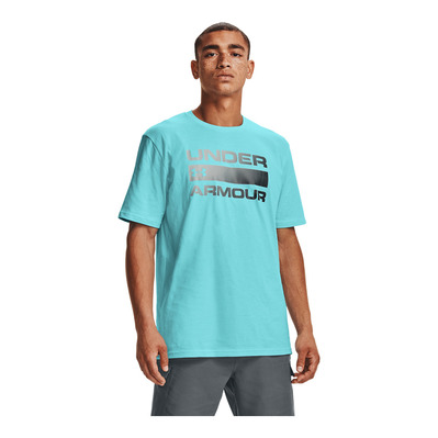 UNDER ARMOUR - UA TEAM ISSUE WORDMARK SS-BLU Homme BLUE