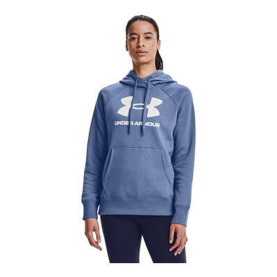 UNDER ARMOUR - RIVAL FLEECE - Sweat Femme blue