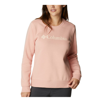 COLUMBIA - LOGO CREW - Sweat Femme faux pink