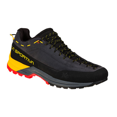 LA SPORTIVA - TX GUIDE LEATHER - Zapatillas de aproximación hombre carbon/yellow