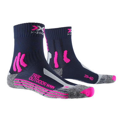 X-SOCKS - TREK OUTDOOR - Socken - Frauen - black/rose