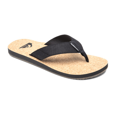 QUIKSILVER - MOLOKAI ABYSS NATURAL - Chanclas hombre black/brown/brown