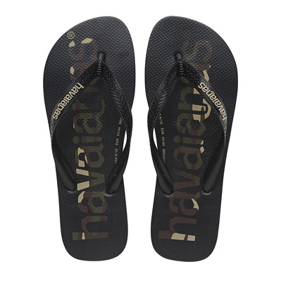 HAVAIANAS - TOP LOGOMANIA - Tongs Homme black/black/white