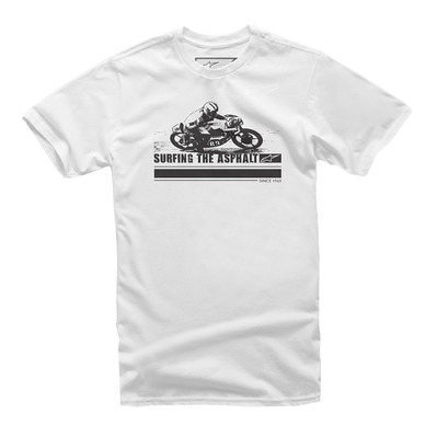 ALPINESTARS - SURFING THE ASPHALT - Tee-shirt Homme white