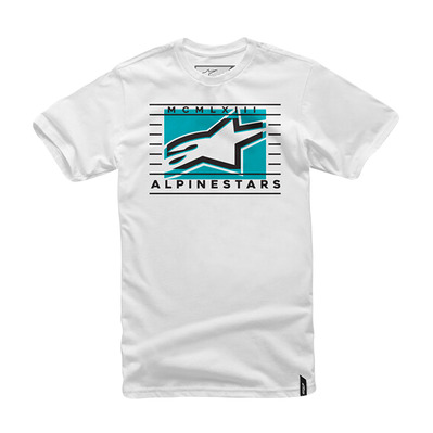 ALPINESTARS - TIME - Tee-shirt Homme white