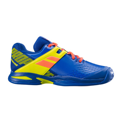 BABOLAT - PROPULSE ALL COURT 2019 - Chaussures tennis Junior blue/fluo aero vnm