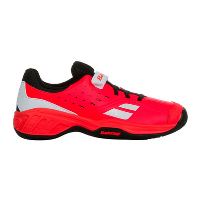 BABOLAT - PULSION ALL COURT VELCRO 2019 - Chaussures tennis Junior fluo strike/black