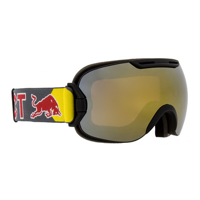 RED BULL SPECT - Red bull SLOPE - Gafas de esquí black/orange snow gold mirror