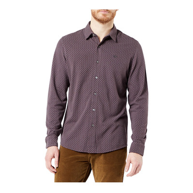 DOCKERS - 360 ULTIMATE BUTTON UP - Camisa hombre ultimate button up raisin