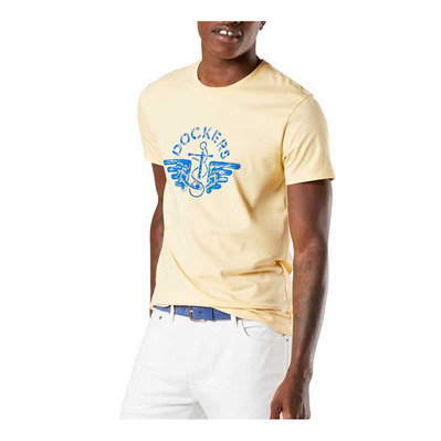 DOCKERS - ALPHA 1986 - Camiseta hombre logo t2 golden haze/blue