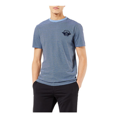 DOCKERS - ALPHA GRAPHIC - Camiseta hombre ethereal blue