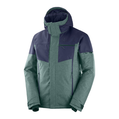 SALOMON - STORMSLIDE - Veste ski Homme green gables/night sky