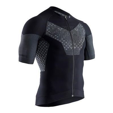 X-BIONIC - TWYCE G2 BIKE ZIP - Camiseta hombre opal black/artic white