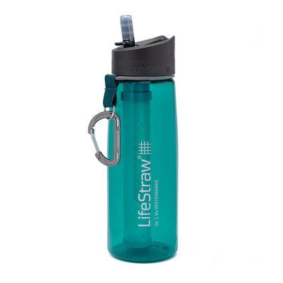 LIFESTRAW - GO 2 STAGES 650ML - Botella con filtro dark teal