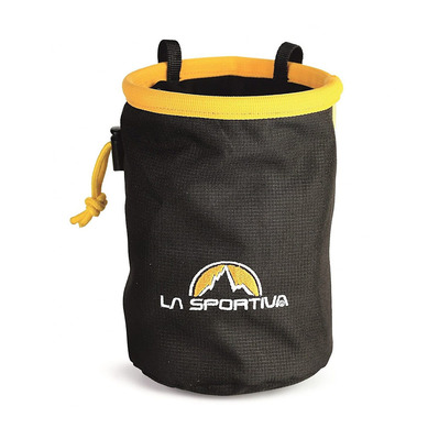 LA SPORTIVA - CHALK BAG - Portamagnesite black/yellow