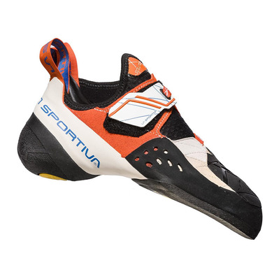 LA SPORTIVA - SOLUTION - Chaussons escalade Femme white/lily orange