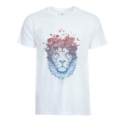 SOLTIB DESIGN - FLORAL LION - T-Shirt - Men's - white