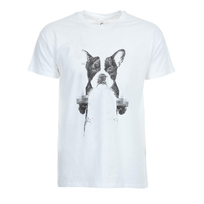 SOLTIB DESIGN - CENSORED DOG - T-Shirt - Men's - white