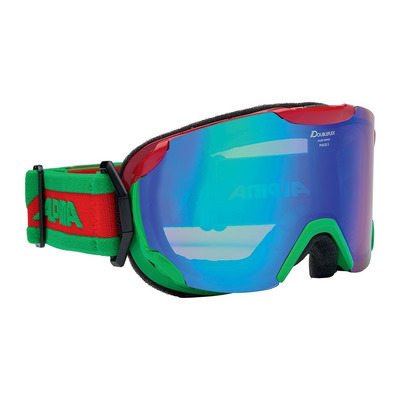 ALPINA - PHEOS S MM - Skibrille - green red/blue