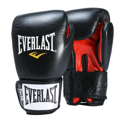 EVERLAST - FIGHTER - Boxing gloves - black/red